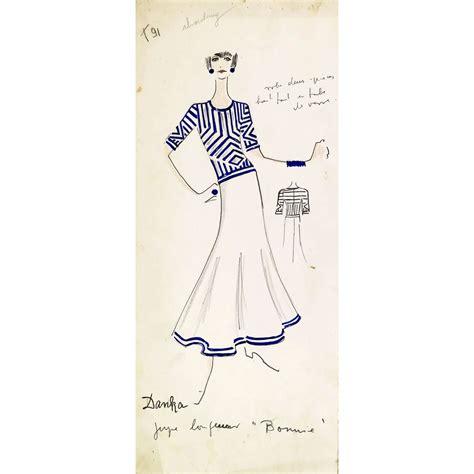 Karl Lagerfeld Original original karl lagerfeld fashion drawings circa 1965 on