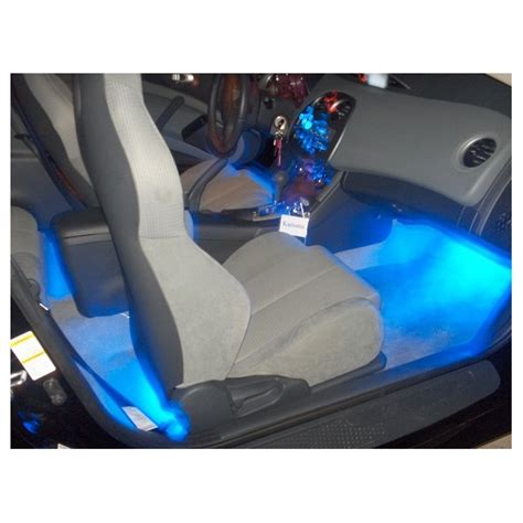 Interior Led Car Lights Blue 4 Piece Flexible Strip Lights Led Light Strips For Car Interior