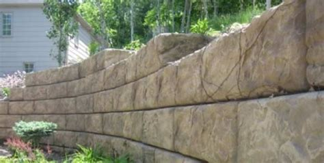 large garden wall large retaining wall blocks recon wall systems
