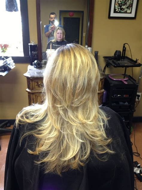 long hair that comes to a point short layers on long hair cut by r dempsey on point