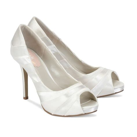 Pretty Wedding Shoes by Pretty By Paradox Pink Dyeable Satin Wedding Shoes