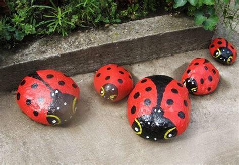 Ladybird Garden Decoration by Garden Decorating Ideas Diy Stones Painted Ladybugs