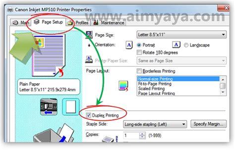 cara membuat halaman word bolak balik cara print bolak balik duplex printing di ms word 2010