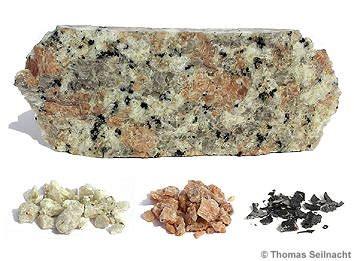 granit bestandteile stoffgemische und stofftrennungen