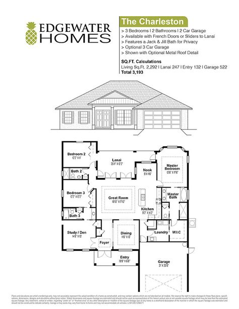 charleston floor plans the charleston edgewater homes custom floorplan