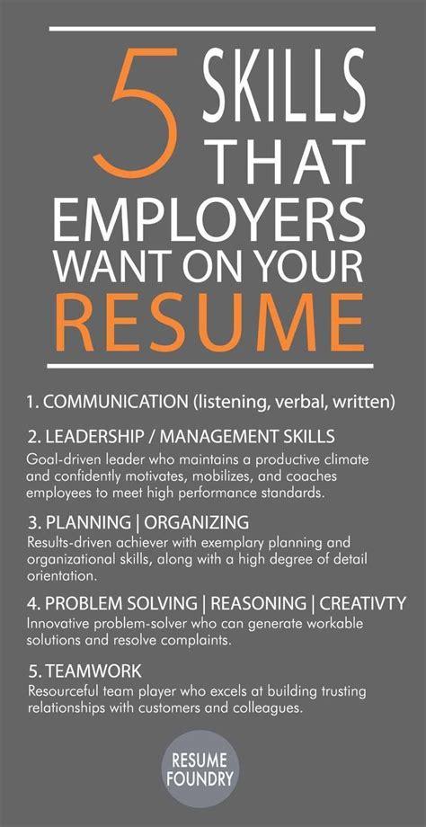 25 best resume skills ideas on resume ideas resume words and resume