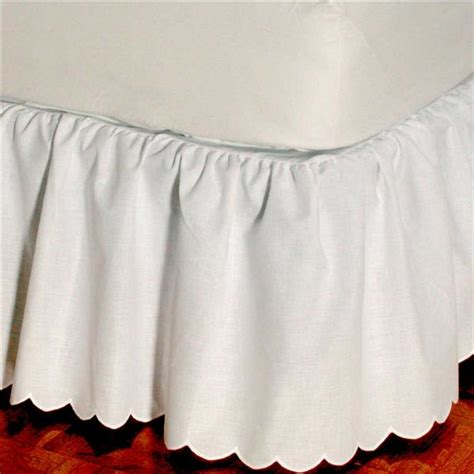 brittany schiffli embroidered scalloped edge bedskirt