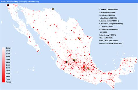 world city population map mexico population map statistics graph most populated