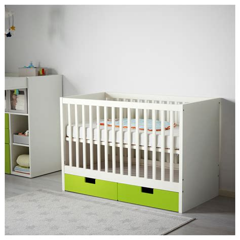 Baby Cot Ikea stuva cot with drawers green 60x120 cm ikea
