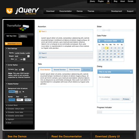 jquery themes gallery jquery ui set theme phpsourcecode net