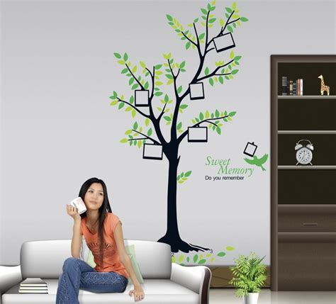 stick photos to wall without damage tree with photo frames wall sticker wall decals vinyl