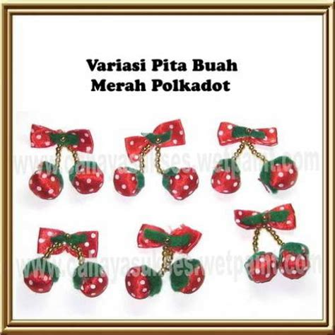 Pita Variasi variasi kancing shanghai variasi pita buah variasi pita pink biru muda variasi kepala