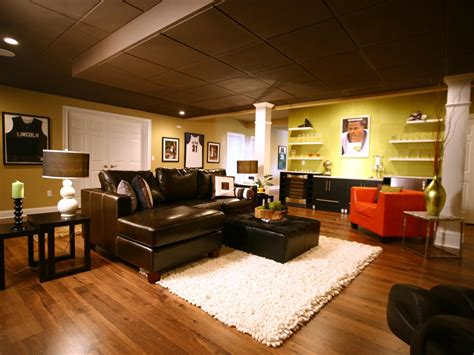basement decor basement finishing costs hgtv