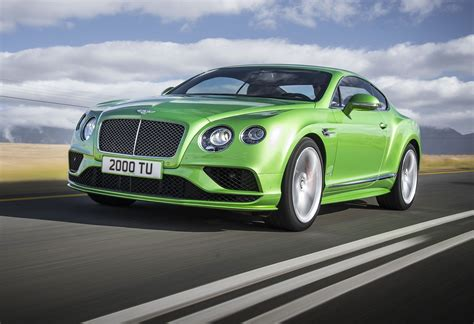 lime green bentley bentley continental family updated for 2015 by car magazine