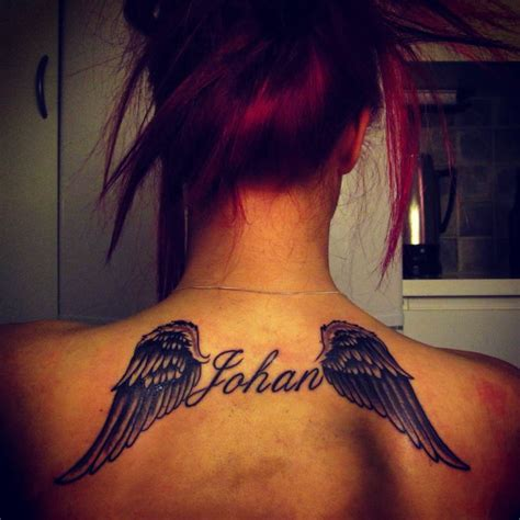 tattoo girl big brother tattoo wings rip in memorie of my big brother