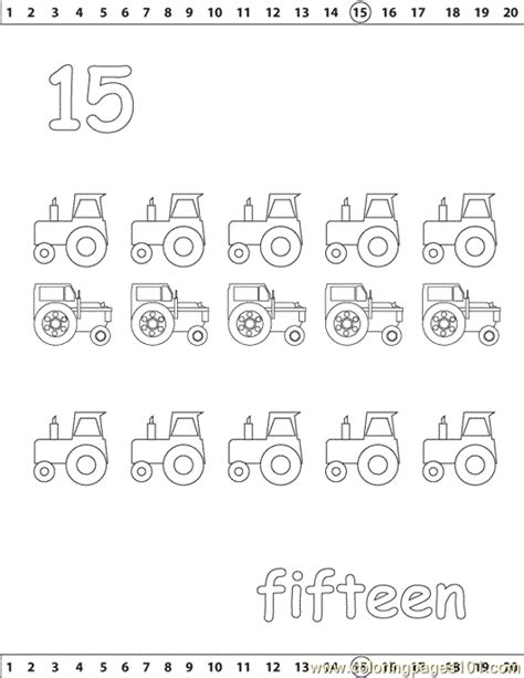 Coloring Page 15 by 15 Number Coloring Page Free Numbers Coloring Pages