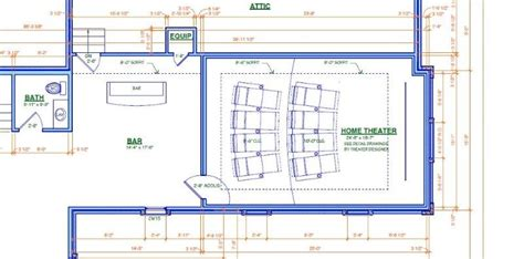 home theater room floor plan house design plans