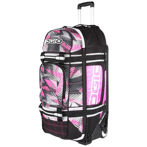 pink motocross gear bag ogio new rig 9800 bolt pink gearbag mx luggage travel