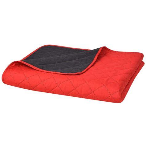 steppdecke kaufen vidaxl zweiseitige steppdecke tagesdecke rot schwarz