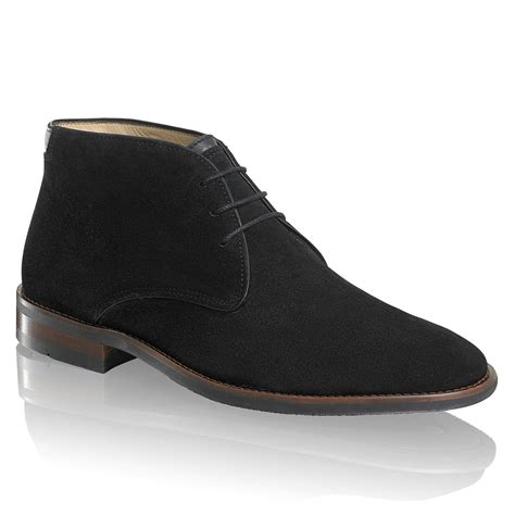 and bromley shoes classic desert boot in black suede bromley
