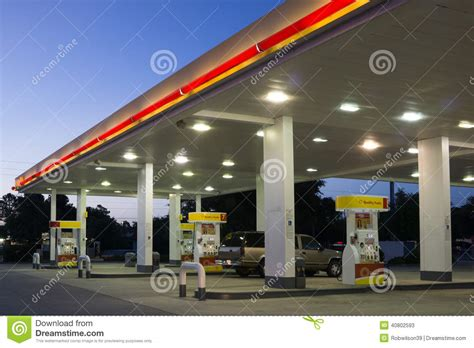 Shell Oil Gas Gift Card - shell gas station editorial stock photo image 40802593