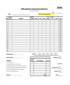 Sample Expense Report Form Sample Expense Report Form 10 Examples In Pdf