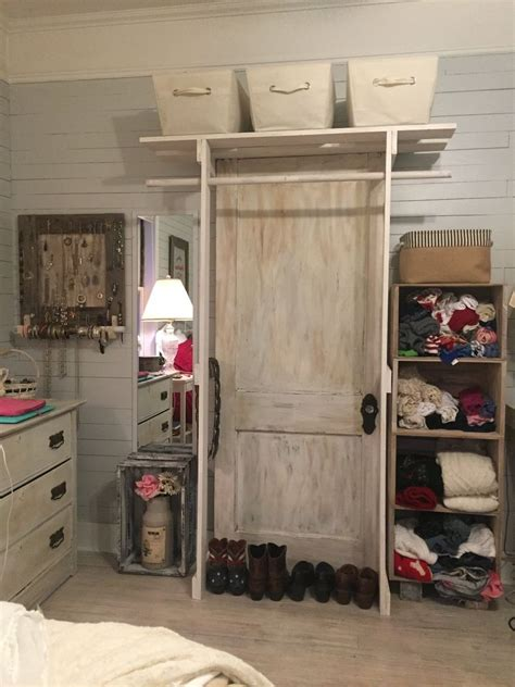 Free Standing Wardrobe by Hometalk Free Standing Closet Made With An Door
