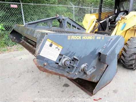 rockhound 60b 60 quot landscape rake for skid steer loader