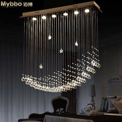 Led Dining Room Chandeliers free shipping simple fashion modern led moon ship