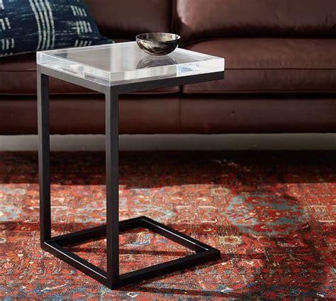clear acrylic side table barton black base clear acrylic c table side table