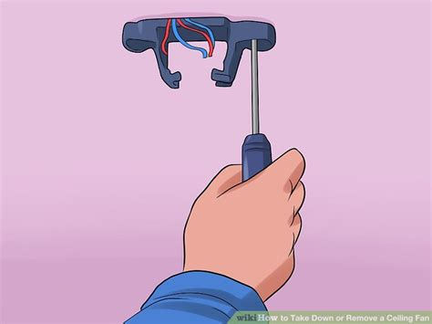 putting up a ceiling fan 2 easy ways to take down or remove a ceiling fan wikihow