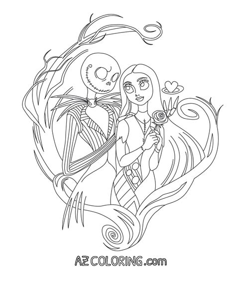 coloring pages the nightmare before christmas nightmare before christmas printable coloring pages