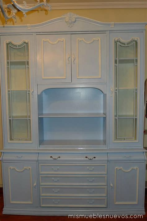 chalk paint mueble salon mueble cl 225 sico de sal 243 n comedor pintado en azul