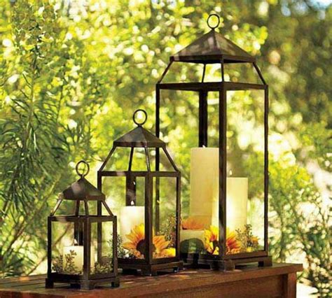 lanterne candele candles in the garden lighting creative ideas for every