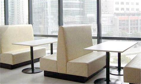 Set Sofa Cafe two side booth sofa chair for coffee shop bar or