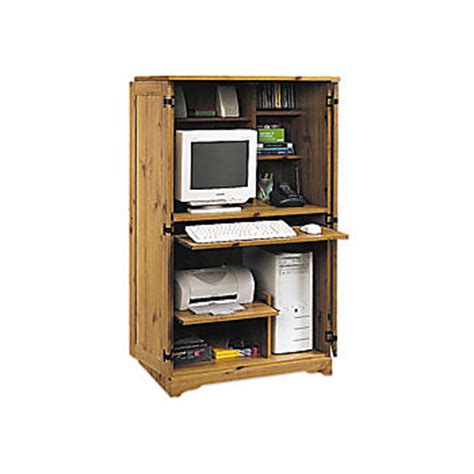 Computer Armoire Office Depot Sauder Computer Armoire 54 18 H X 30 34 W X 21 D Spiced Pine By Office Depot Officemax
