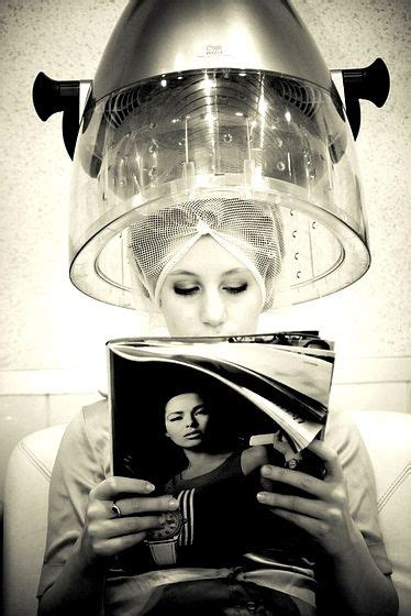 under the dryer in curlers quiet reading hair rollers mania pinterest