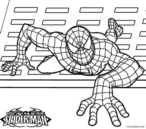ultimate spider man coloring pages