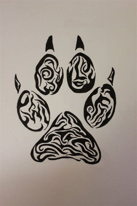 wolf paw print tattoo designs 9 best wolf designs images on wolf