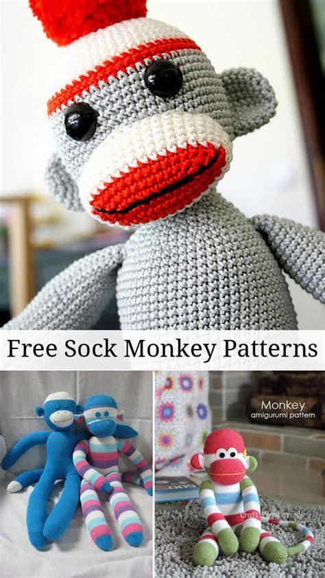 sock monkey booties knitting pattern free free sock monkey patterns peek a boo pages patterns