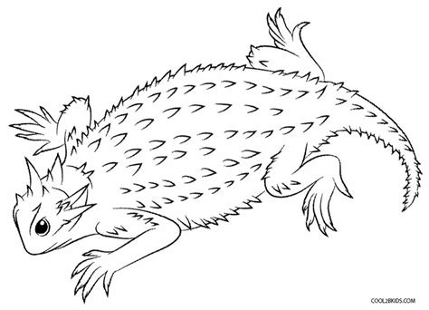 free coloring pages of desert lizard