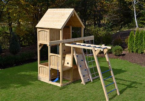 small space swing set canterbury space saver climber kids playsets and swing