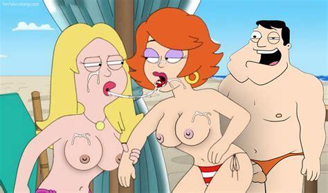 American Dad Beach Bikini Bottom Breasts Cum Cum On Face Cum Swap Facial Francine Smith Gina
