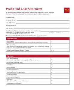 doc 600730 profit and loss statement for self employed