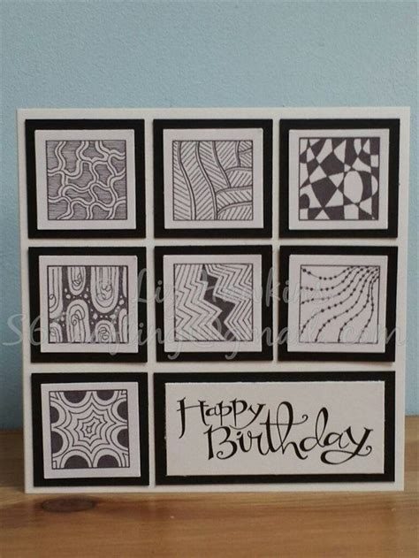 zentangle pattern cards birthdays birthday cards and zentangle on pinterest