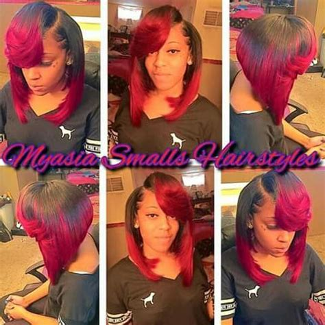 red weave bob red bob sew in hairstyles pt 2 pinterest bobs red