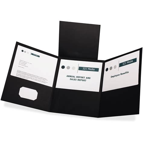 Tri Fold Paper Folder - tri fold pocket folders letter 8 1 2 quot x 11 quot sheet size