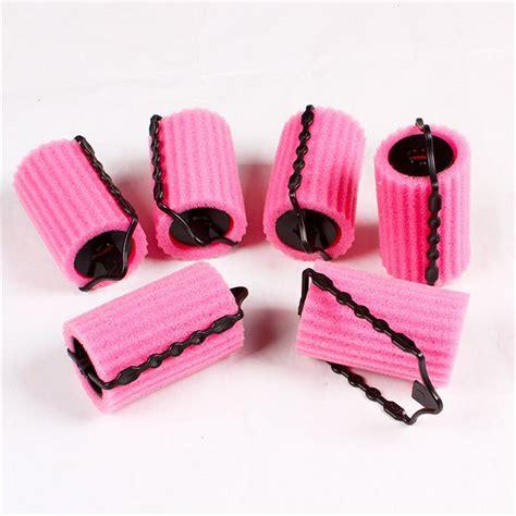 Bendy Hair Roller Sponge Isi 6 6pcs set curler makers soft foam bendy twist curls diy styling hair rollers tool for
