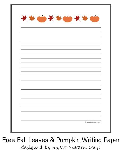free thanksgiving writing paper free printable fall themed writing paper writing