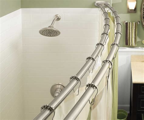 double shower curtain tension rod double shower curtain rod walmart in fascinating shower
